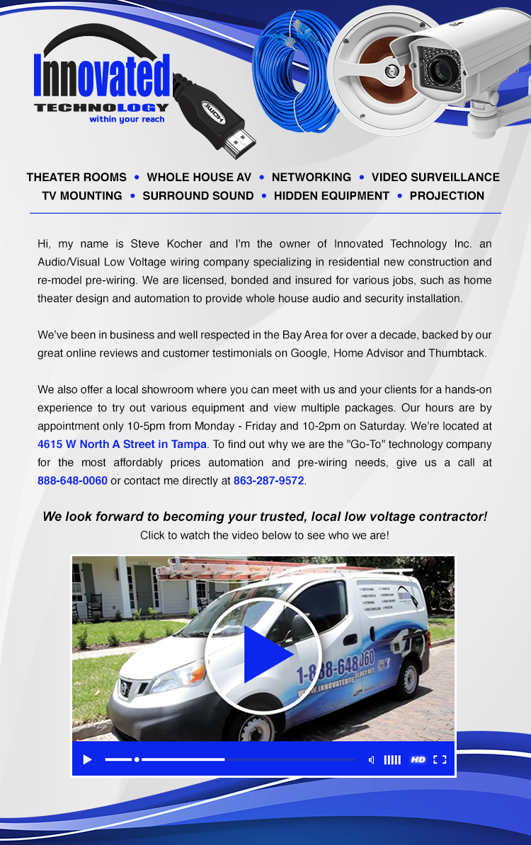 Innovated Technology - Your Trusted, Local Low Voltage Contractor